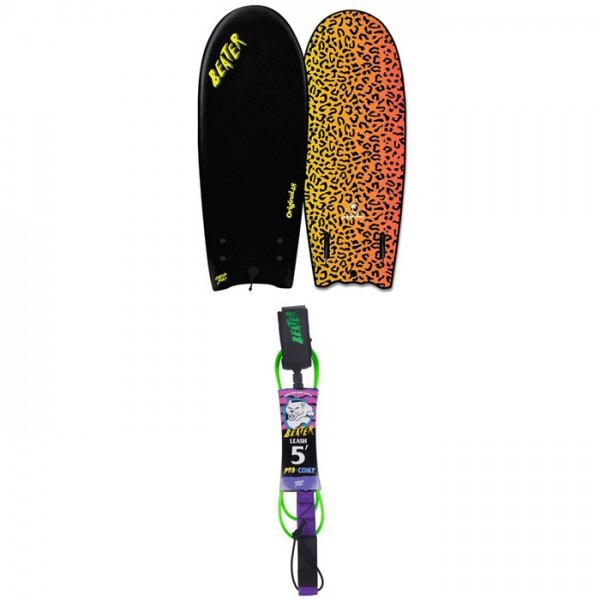 "Catch Surf Beater Original 48"" Twin Fin Board ​+ Catch Surf Beater 5' Pro-Comp Leash"