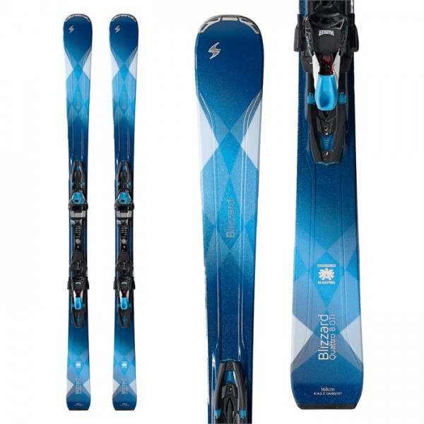 Blizzard Quattro 8.0 Ti Skis ​+ TCX12 Bindings - Women's 2018