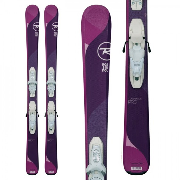 Rossignol Temptation Pro Skis ​+ Kid X 4 Bindings - Girls' 2018