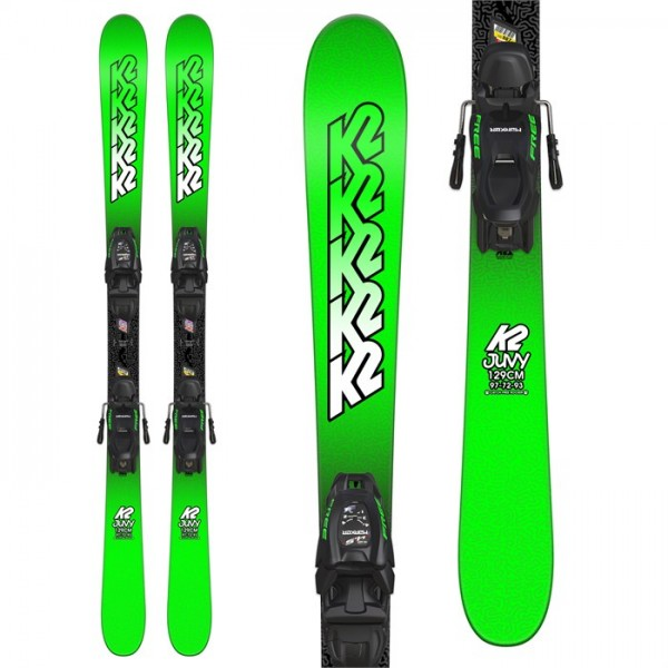 K2 Juvy Skis ​+ Marker FDT 7.0 Bindings - Boys' 2019
