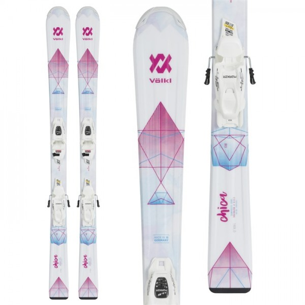 Volkl Chica Skis ​+ 7.0 vMotion Jr Bindings - Girls' 2019