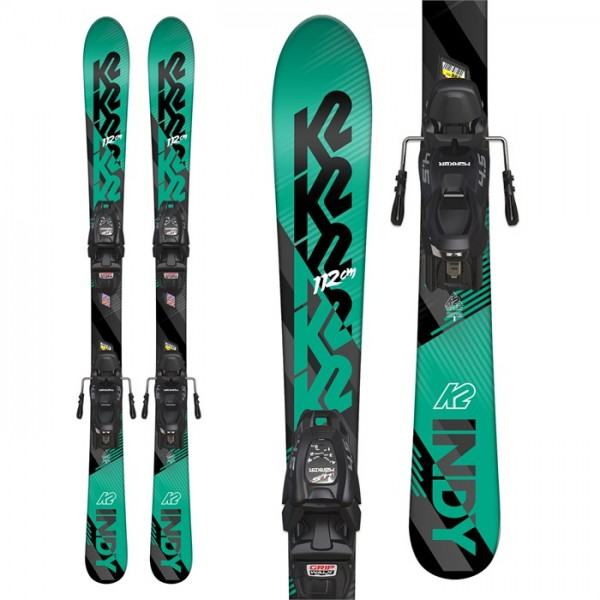 K2 Indy Skis ​+ Marker FDT 4.5 Bindings - Little Boys' 2019