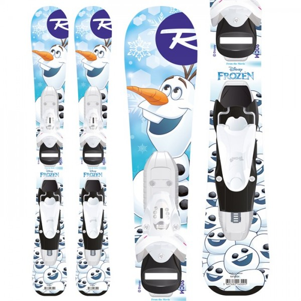 Rossignol Frozen Baby Skis ​+ Kid-X 4 Bindings - Little Girls' 2019