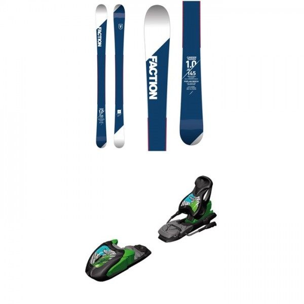 Faction Candide 1.0 Jr. Skis - Boys' 2018 ​+ Marker M7.0 Free Ski Bindings 2017